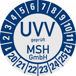 MSH - UVV Prüfsiegel